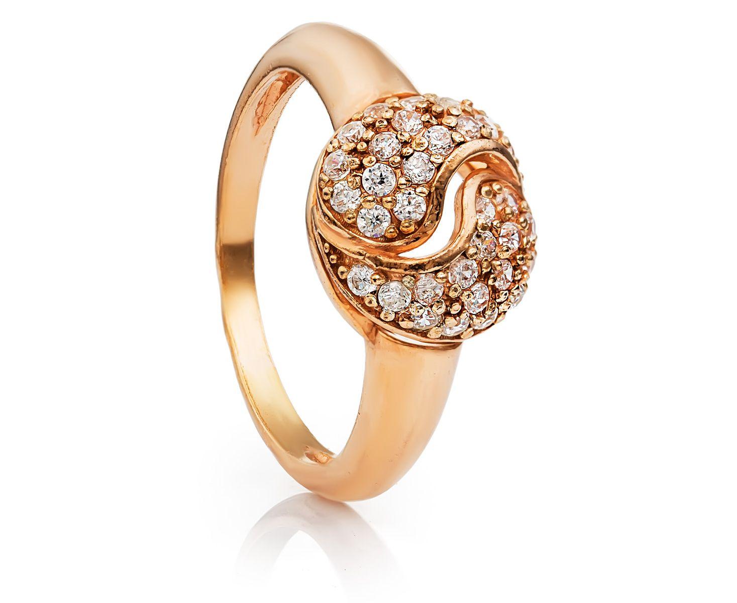 позолоченное серебрянное кольцо