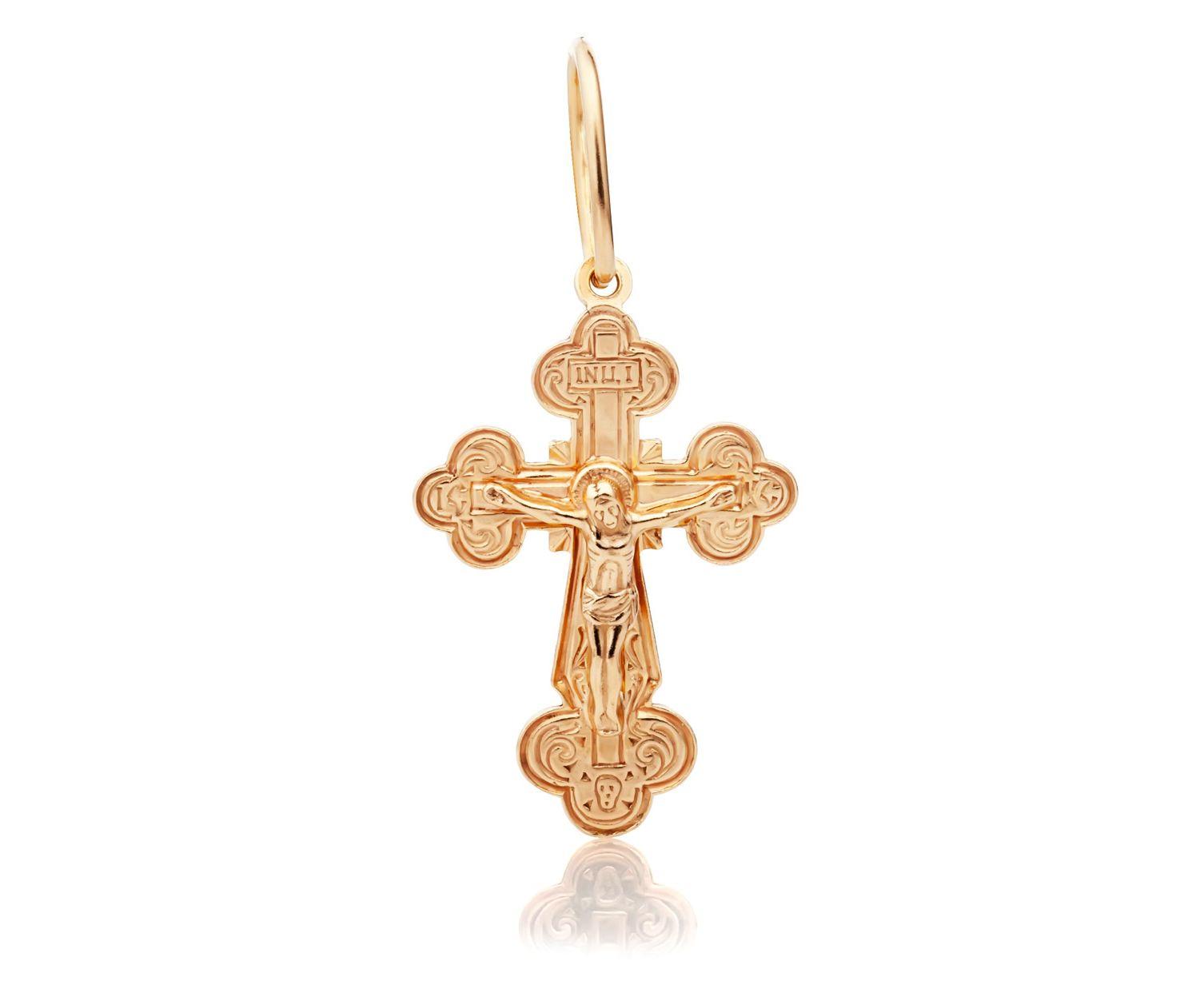 позолоченный крестик